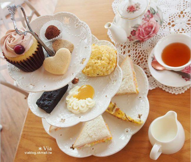【台中下午茶推薦】甜點森林|Wilson`s English Afternoon Tea英式下午茶~好味推薦!(已歇業)-Via's旅行札記
