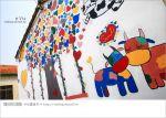 【彰化景點推薦】乳牛彩繪村(福寶村)~數百頭彩色小牛+夢幻藍晒圖的彩色村